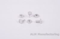 ALM GH024 22mm Aluminium Square head bolts and nuts