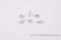 ALM GH023 22mm Aluminium cropped head bolts and nuts
